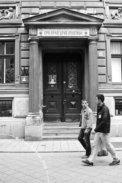 In Vaci Utca, one of many entrances...
