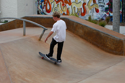 Kyle Skateboarding
