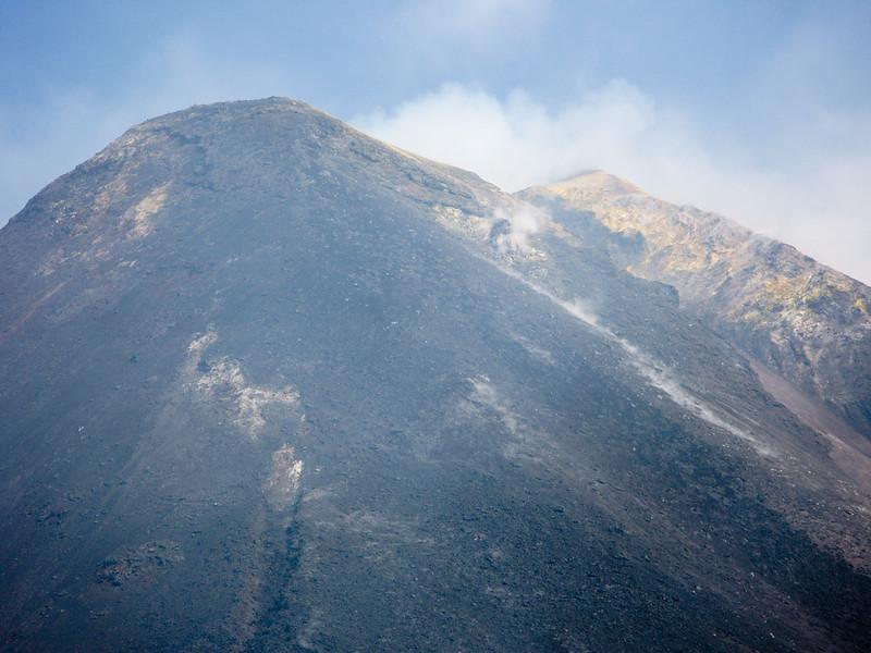 Mt Etna Steam clouds