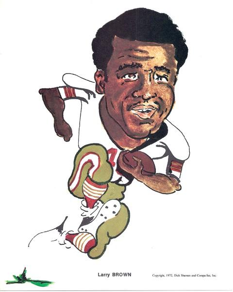 1972 Compu-Set Redskins Larry Brown