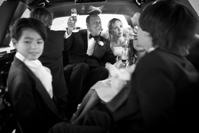 Family limo ride to Maggiano's