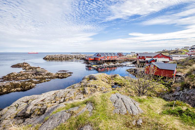 Red houses of Lofoten Island