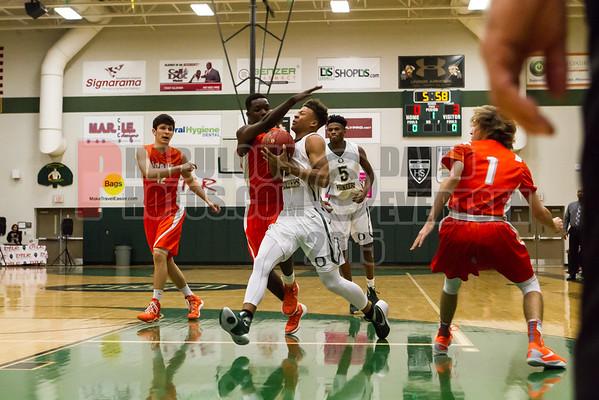 Boone Braves @ Oak Ridge Pioneers Boys Varsity Basketball -2016
