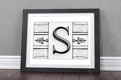 Monogram Style Letters
