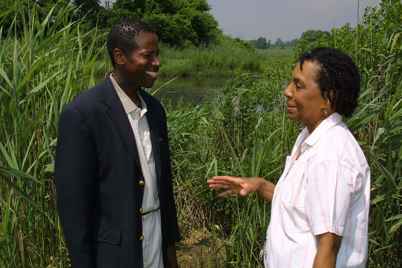 State Senator Malcolm Smith and environmental activist Barbara Brown.