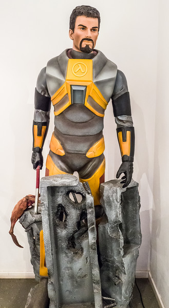Gordon Freeman from Half-Life in Computerspielemuseum, Berlin