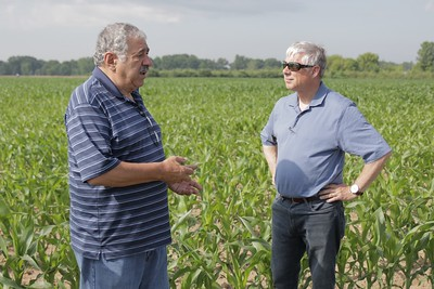 Congressman Fred Upton visits three farms in SW MI