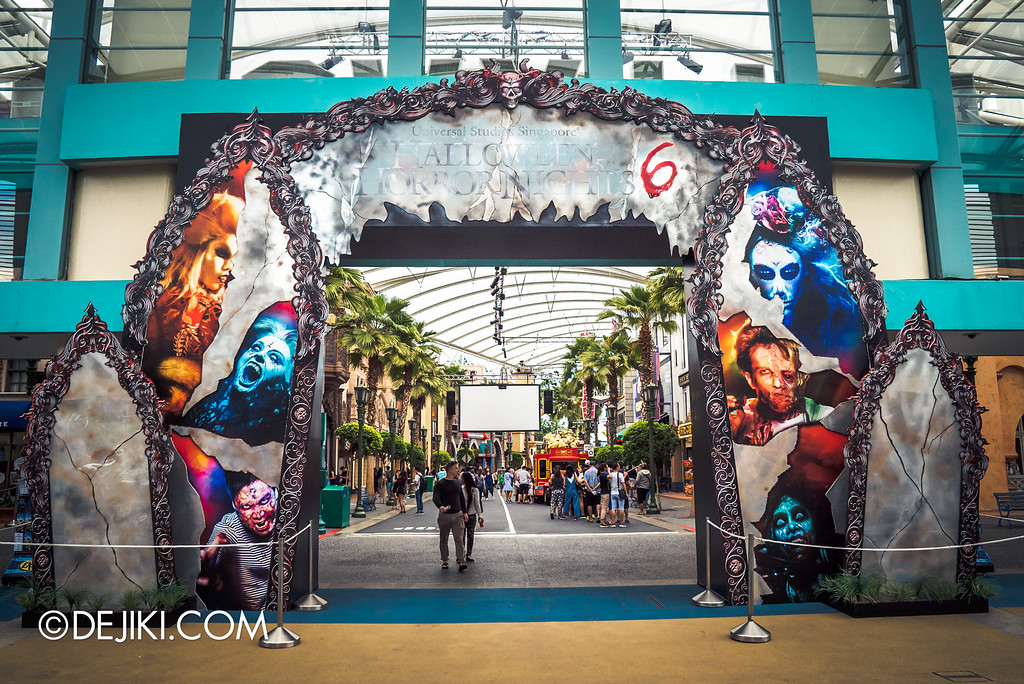 Universal Studios Singapore - Halloween Horror Nights 6 Before Dark Day Photo Report 2 - Park Entrance arch