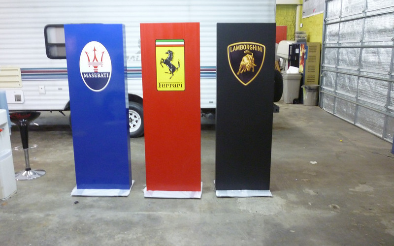 Boardwalk Auto Group, Pillar wraps, Dallas, TX