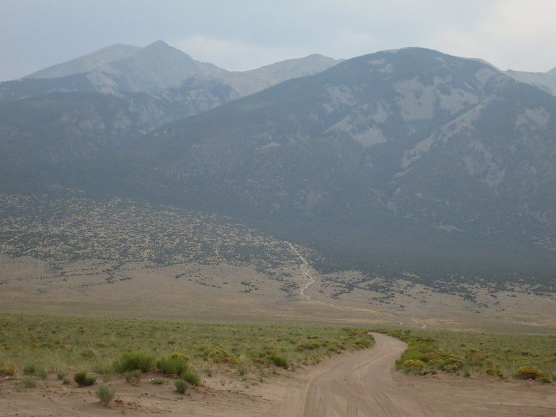 Most cars park low around the 8,000' level - as the road is super rocky and gets notoriously rough.
