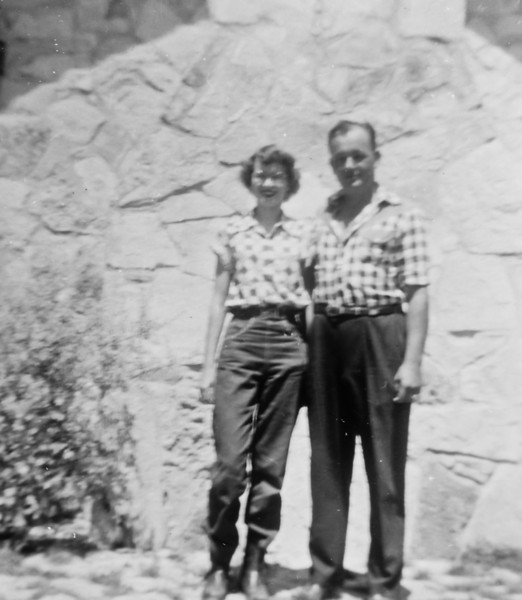 Maria Jacob with unknown man