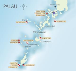 Palau Diving Maps