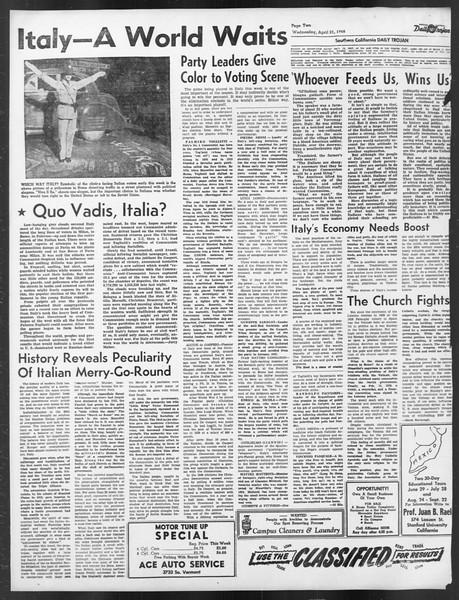 Daily Trojan, Vol. 39, No. 123, April 21, 1948
