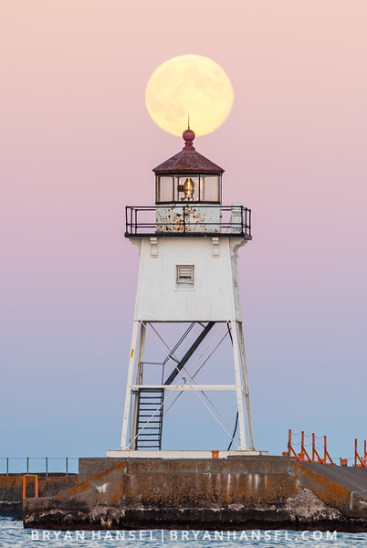Blue Moon over Lighthouse