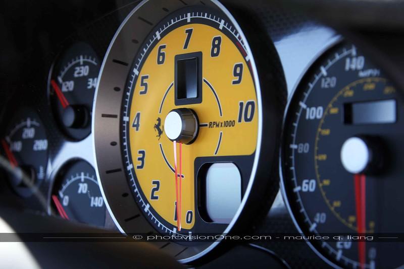 Ferrari gauge cluster.