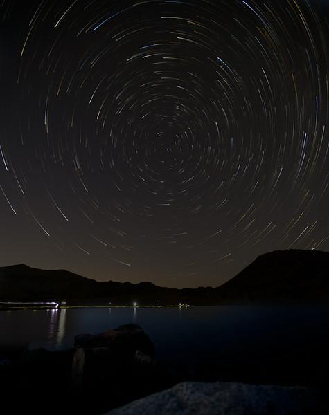 Star Trails over Middle Gaylor Lake