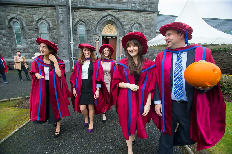 30/10/2015. Waterford Institute of Technology Conferring. Pictured are newly Conferred PHD's. pictured from left, Anne Marie Burns, Cavan, Sarah Duggan, Waterford, Tracey Coady, Waterford, Katherine Meagher, Waterford and David Phelan, Waterford. Picture: Patrick Browne