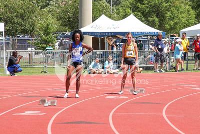 Women's 4x100 relay - trials