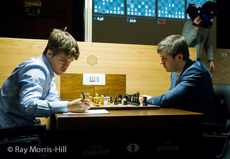 Round 14: Magnus Carlsen vs Peter Svidler