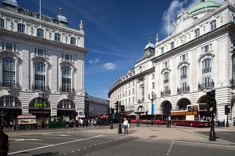 Regent Street from Picadilly Circus, Westminster, London, England, United Kingdom