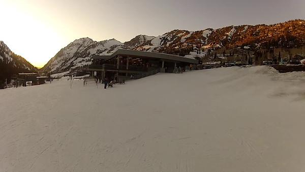 Bonnie Family Skiing Alta 1-14-2012