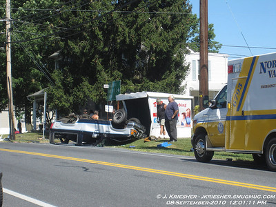 Lehigh County - N. Whitehall Twp. - MVA with ejection 9/8/2010