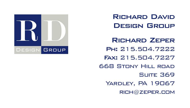 Logo design/business card design for an interior designer.