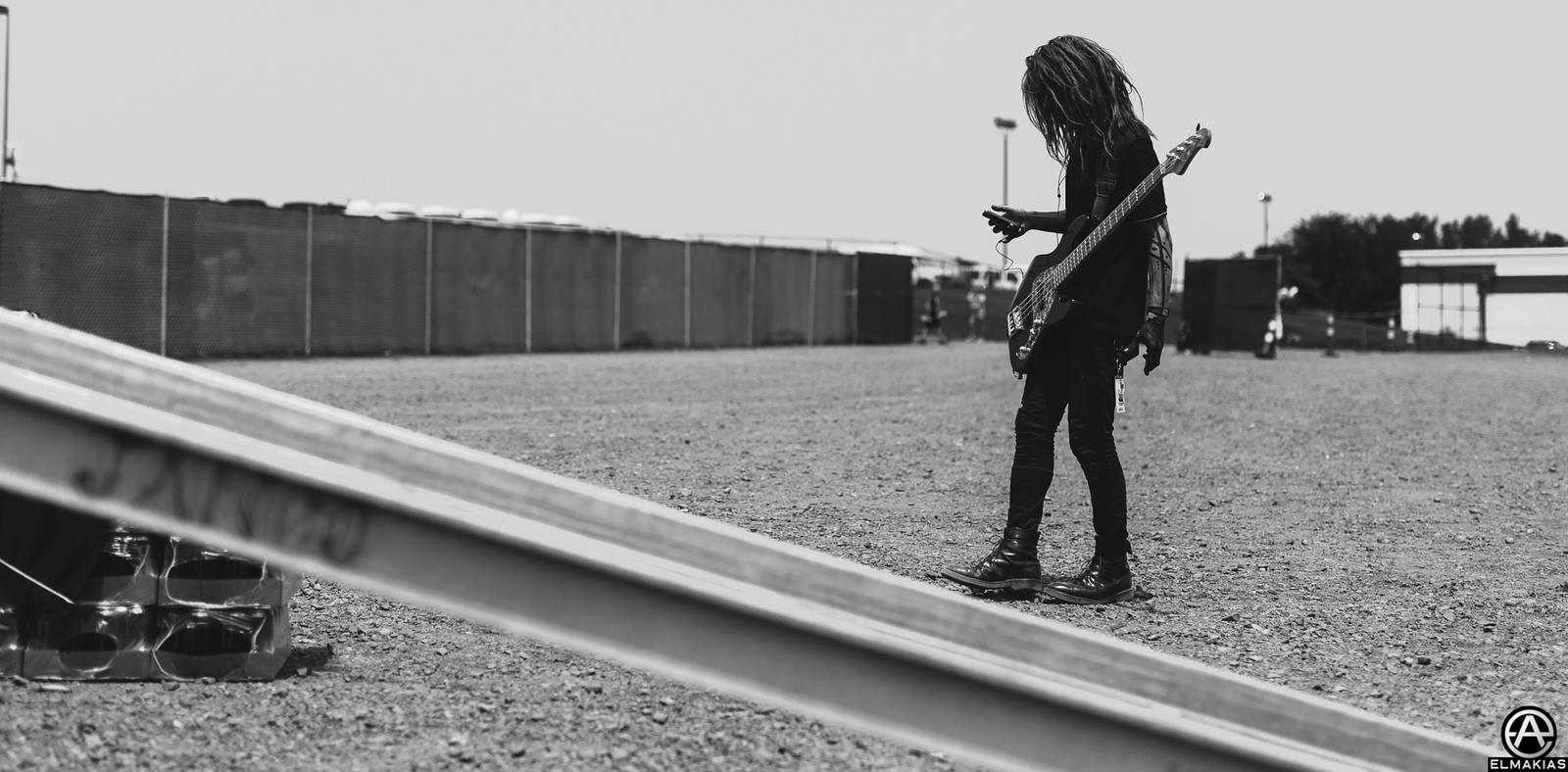 Hiroki Ikegawa of Crossfaith live at Vans Warped Tour 2015 by Adam Elmakias