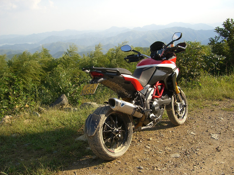 "2/3: Multistrada 1200 Pikes Peak off road after a session in the mud! - by 'Butch' (China) - ""Anjii / Moganshan area in Zhejiang Province (my favorite playground 2 hrs. ride from Shanghai)"""