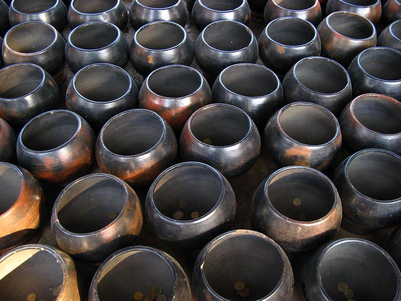 Alms bowls at Wieng Khum Kham