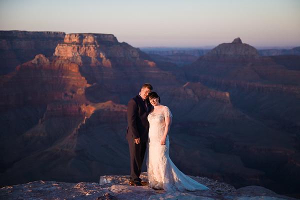 Allison and Adam   Shoshone Point Wedding