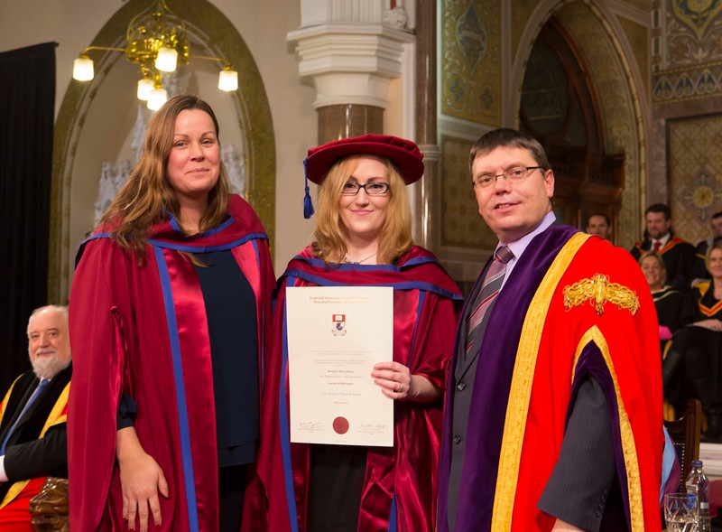 Waterford Institute Of Technology Conferring. Pictured at WIT Waterford Institute Of Technology Conferring is Rosanne Birney, Waterford, who was conferred a Doctor of Philosophy by Dr. Ruaidhrí Neavyn, President WIT. Picture: Patrick Browne