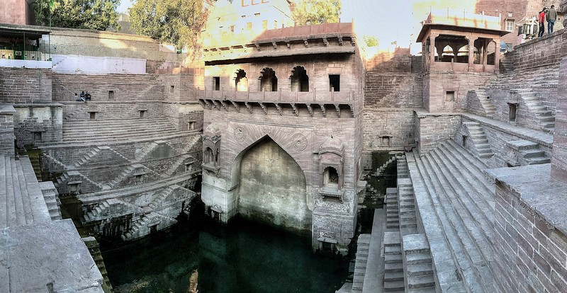 This stepwell was a surprise for us as it has been very recently restored and wasn't mentioned in our guidebook. It had been filled with trash and stagnant water and now it is an impressive wonder! - Toorji Ka Jhalra Step Well - Jodhpur