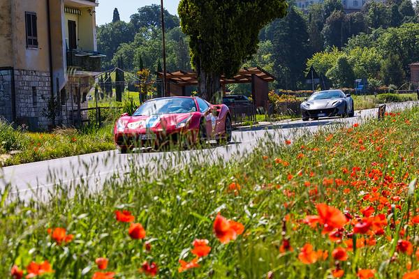 Radicofani to Monterrigioni Ferrari 75th