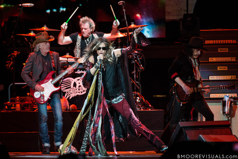 Brad Whitford, Joey Kramer, Steven Tyler, and Joe Perry of Aerosmith perform on December 11, 2012 during The Global Warming Tour at Tampa Bay Times Forum in Tampa, Florida