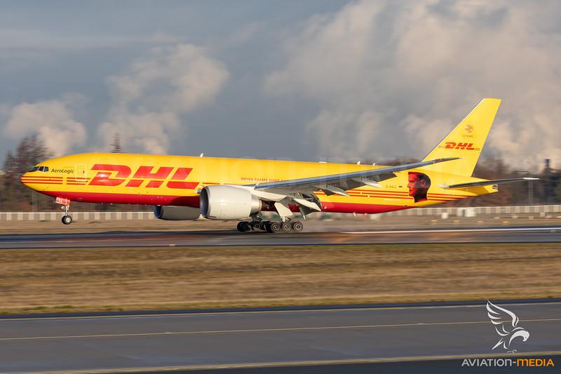 "DHL (AeroLogic) | Boeing 777-FBT | D-AALL | ""Bryan Adams"" special scheme"