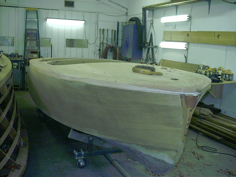 Starboard front view of cover board.