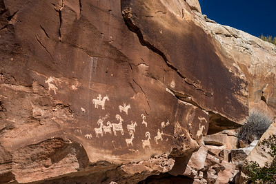 Wolf Ranch petroglyph panel   Arches National Park