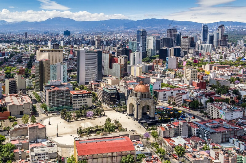 mexico city itinerary - aerial shot of the city