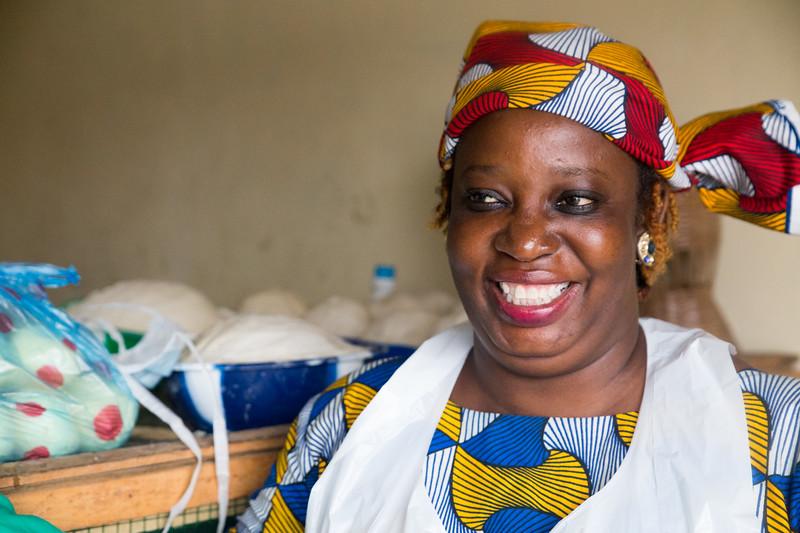 Monrovia, Liberia October 6, 2017 - Olivia Stewart, director of REVSLA.