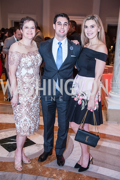 Susan Crown, Kayvon Sarmadi, Nadira Sarmadi, Iranian-American Nowruz Reception, Washington, DC, Carnegie Institute of Science, March 15, 2018.  Photo by Ben Droz.