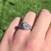1.11ct Old European Cut Diamond Filigree Ring 4
