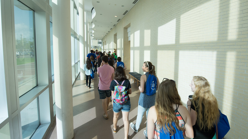 Future Islanders make their way to the new student orientation. Monday June 13, 2016 in Bay Hall.