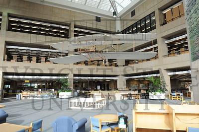 13821 Wright Flyer cleaning in the Dunbar Library 6-9-14