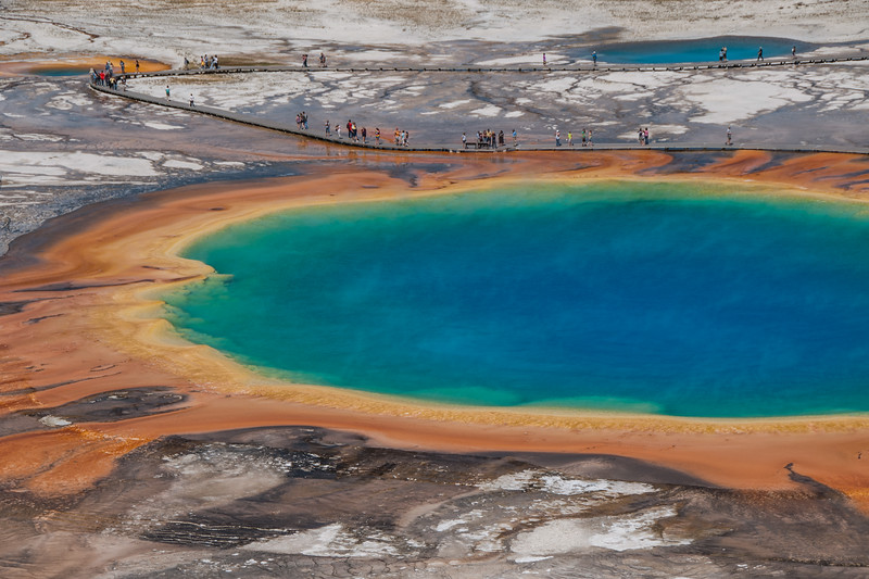 Wyoming - Grand Prismatic Spring, Yellowstone National Park