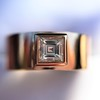 0.40ct Carre Cut Rose Gold Band 14