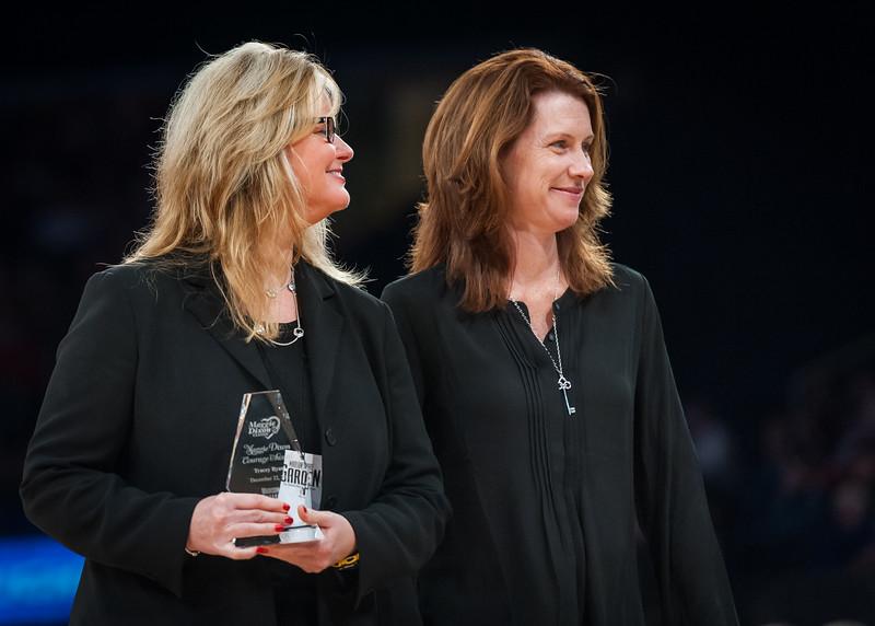 Maggie Dixon courage award recipient Tracy Ryan, Julie Dixon Silva