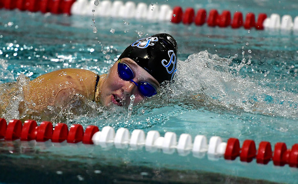 9/25/2018 Mike Orazzi | Staff Bristol Eastern's Taylor DeMarest during Tuesday's swim meet with Windsor in Bristol.