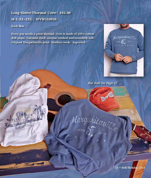 Margaritaville Apparel - Summer Catalog