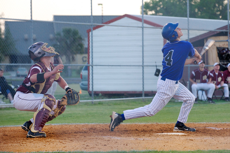 Bartram Trail's Michael Babb (4) hits the ball as St. Augustine's catcher Jake Westbrook watches during Tuesday's baseball game.